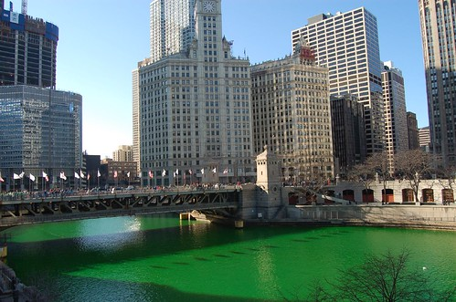 St. Patrick's Day - Chicago River Goes Green