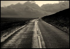 Another Roadshot (andrewlee1967) Tags: road uk england blackandwhite bw monochrome landscape mono yorkshiremoors andrewlee canon400d andrewlee1967 andylee1967 focusman5