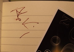 Alex King signed my diary