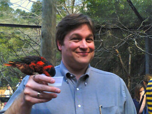 Lorikeet, with Your Humble Blogospondent