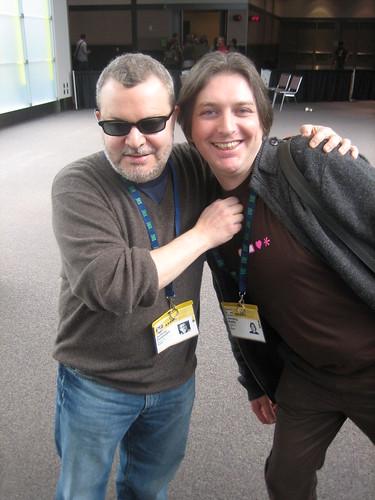 Jeffrey Zeldman y Jeremy Keith en el SxSW 2007 en Austin