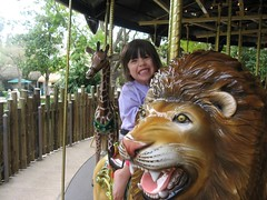 The lion, the little girl & the carosel