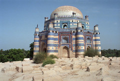 Shrine of Bibi Jawindi, Uch Sharif, Pakistan. (Rowan Castle) Tags: pakistan castle art architecture sharif nikon shrine asia desert islam tiles punjab bibi rowan sufi sufism islamic uch nikonem highquality jawindi lpmonuments coolestphotographers