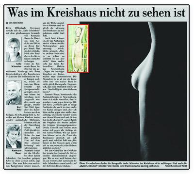 Ausschnitt Kreishaus Offenbach Artikel
