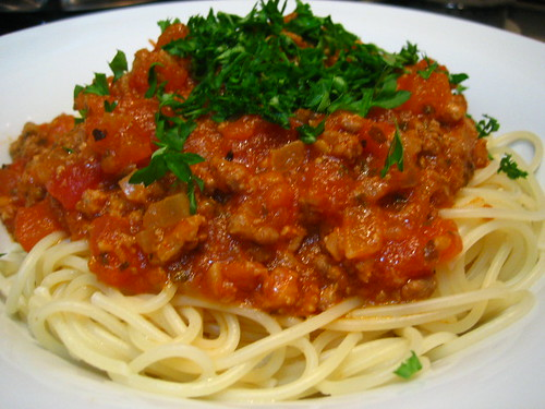 Spaghetti With Meat Sauce by Food Trails.
