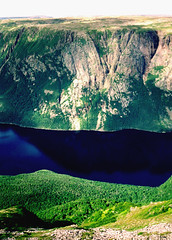 Aug 92  -  'Ten-Mile pond' and fjord from atop Gros Morne, Gros Morne national park (Best of Rob) Tags: newfoundland fjord morne