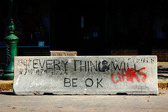 The Basis of Optimism (B Tal) Tags: street vacation georgia graffiti cool message quote good awesome nikond50 block savannah ok okay liars savannahga savannahgeorgia everythingwillbeok
