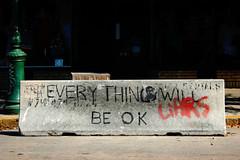 The Basis of Optimism (B Tal) Tags: street vacation georgia graffiti cool message quote good awesome nikond50 block savannah ok okay liars savannahga savannahgeorgia everythingwillbeok