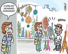 Los charamicos (Caricaturascristian) Tags: los charamicos navideos torre eiffel tower churchill santo domingo oeste plaza bandera navidad arbolito herrera francisco pnna