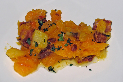 Butternut Squash Confit with Hungarian Bacon