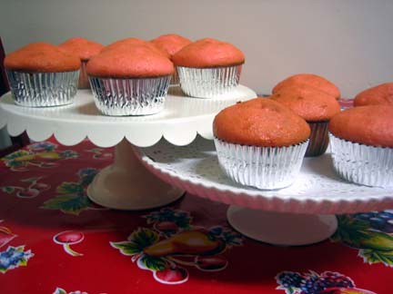 Strawberry Cupcakes Fresh Out of the Oven