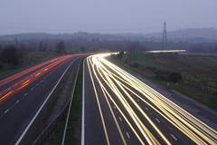Driving home for Christmas (Matt Browne) Tags: longexposure 350d lights driving traffic motorway kitlens devon exeter lighttrails 1855mm m5 poltimore