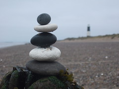 Rock Balance 1 (ebygomm) Tags: christmas england geotagged yorkshire 2006 rockbalancing spurn spurnpoint spurnhead geo:lat=53585 geo:lon=0126738