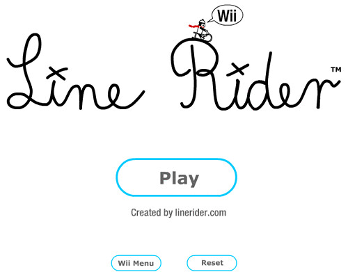 Line Rider for the Wii browser