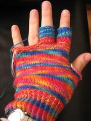 Hooray for me! fingerless gloves