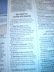 My Top 5 WiFi Cafes List in Vancouver in The Province -  N93 version, macro with flash in our bathroom with red walls - 31/12/2006