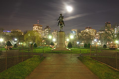 George Rides Tonight! (Pear Biter) Tags: city moon public statue boston garden geotagged george washington interestingness long exposure nightshot massachusetts full citylights 1022mm 30d bostonist interestingnesstop10 geo:lat=42353749 geo:lon=71071262 7forjan4