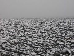 Snowy Rocks at Wells