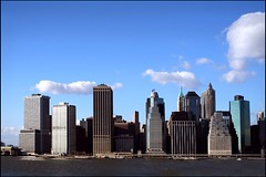 An Inconvenient Skyline (Linus Gelber) Tags: nyc sky newyork skyline clouds sandals manhattan eastriver climatechange globalwarming elnino unseasonablywarm