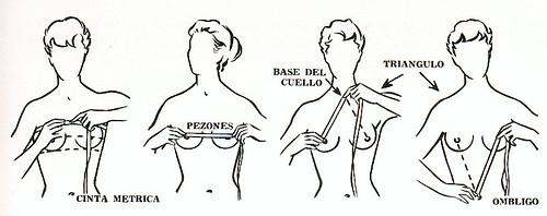 como medirse los pechos