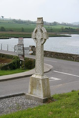 Celtic Cross, Timoleague Abbey (anaxila) Tags: ireland water cemetary graves countycork celticcross canonefs1855mmf3556 timoleagueabbey