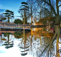 Village Pond Reflections (algo) Tags: road blue red sky white color colour reflection tree green water colors silhouette topv2222 bronze wow reflections photography gold mirror cool pond topf50 topv333 bravo colours topv1111 buckinghamshire topv999 silhouettes utata topf100 100f wingrave abigfave anawesomeshot flickrplatinum wingraveithink 200750plusfaves 70109
