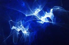 Out of The Blue (Reciprocity) Tags: blue light abstract colour film birds analog 35mm interestingness nikon bravo experimental fuji superia interestingness1 experiment optical plastic refraction lensless caustics 100asa photogram diffraction 361 nikomat nikkormat lightart printscan experimentalphotography reciprocity supershot 2235 refractograph 14dec0626a