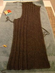 cardigan blocking
