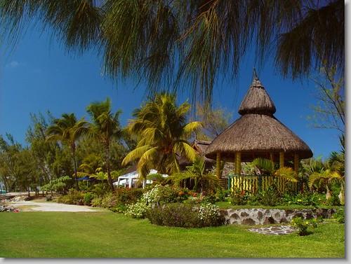 Jardines del hotel Le Coco Beach