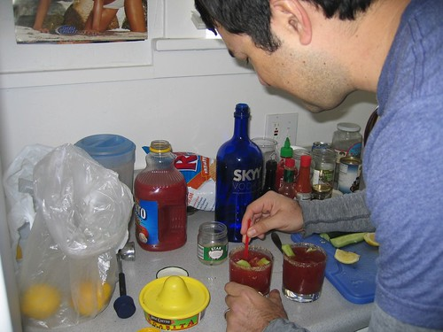 Tom's secret bloody mary recipe