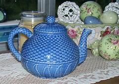 Teapot (turtlepatrol) Tags: blue vintage teapot chic shabby