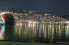 My first HDR ! (Sergio) Tags: summer night port island town greece hdr skopelos canonpowershota510