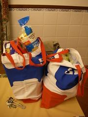 Trouxe menos 2 sacos de plástico para casa :-)
