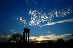 The Ancient Temple of Apollon (ester-**) Tags: blue trees sunset sky clouds island temple golden ancient bravo view quality interestingness1 ruin silhouettes greece rhodes interestingness3 interestingness4 magicdonkey instantfave montesmith