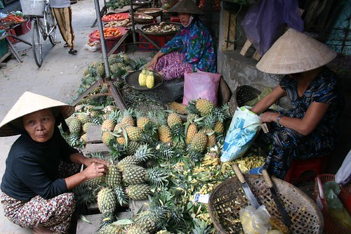 The lady with the pineapples...Hoi An.