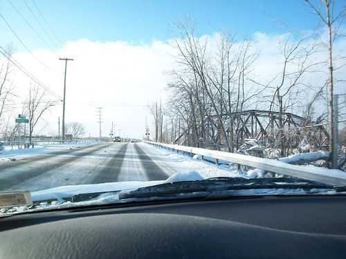 Winter's Drive: Aproaching the Railroad Crossing