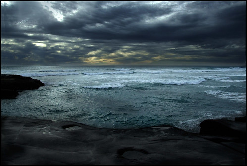 Twilight at Muriwai Beach