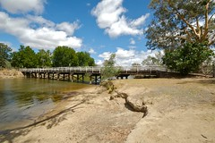 Once upon a time (yewenyi) Tags: wood bridge river australia victoria vic aus murrayriver oceania wodonga auspctagged northeastvictoria warter highway31 pc3689 wineandhighcountry pc3690 wodongaruralcity wodongacitycouncil cityofwodonga murrayrivervalley