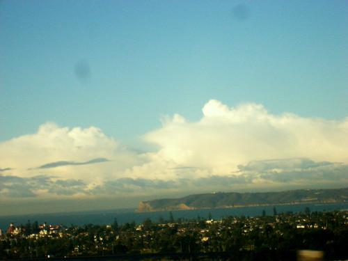 View of Point Loma from the Coronado Bridge
