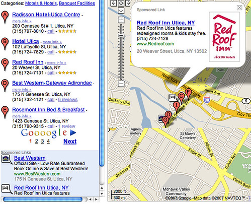 Google Maps Ad Red Roof Inn