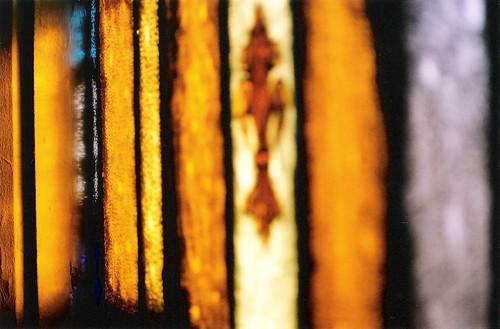 angled amber