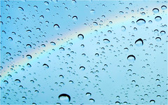 coloured rain (BlueBreeze) Tags: water rain rainbow wasser bow raindrops coloured regen regenbogen bogen regentropfen