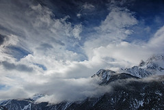 Ciel tourment / Contorted sky (Laurence TERRAS) Tags: winter sky mountain france mountains alps nature clouds montagne alpes landscape nikon bravo europe hiver explore ciel nuages paysage montagnes 1000views queyras ceillac hautesalpes 1500views d80