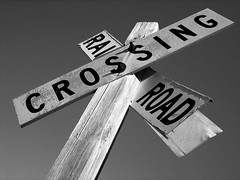 Railroad Crossing Sign, Vera, Oklahoma
