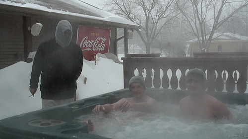 3 Boys on the Deck, Hot Tub