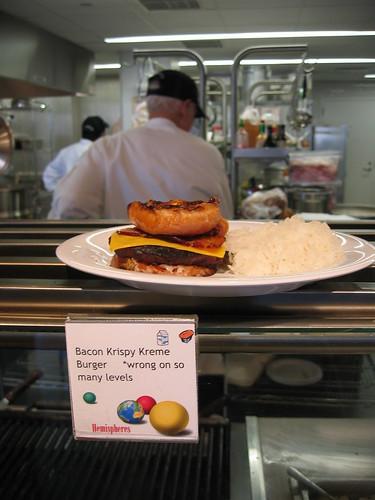 Bacon Krispy Kreme burger