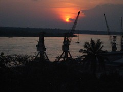 Sunset over Congo River