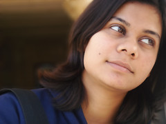 Dixie chick (Aditya Rao.) Tags: portrait girl stairs temple shrine indian courtyard institute bits dixie saraswati rajasthan birla rao pilani