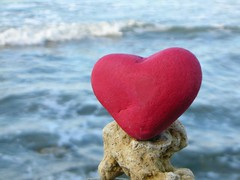 """La Boca heart"" (rebranca46) Tags: red sea rock wow mare heart pebble laboca rosso cuore abigfave"