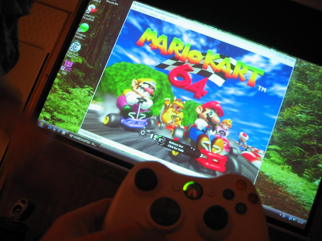 Vista + PJ64 + Mario Kart + Xbox 360 Wireless Controller